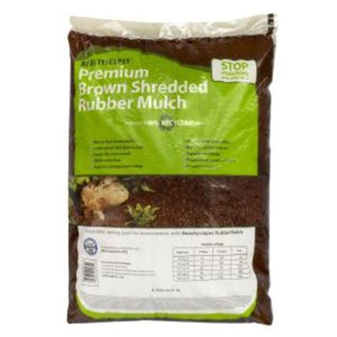 beautyscapes brown rubber mulch 1664753 the home depot