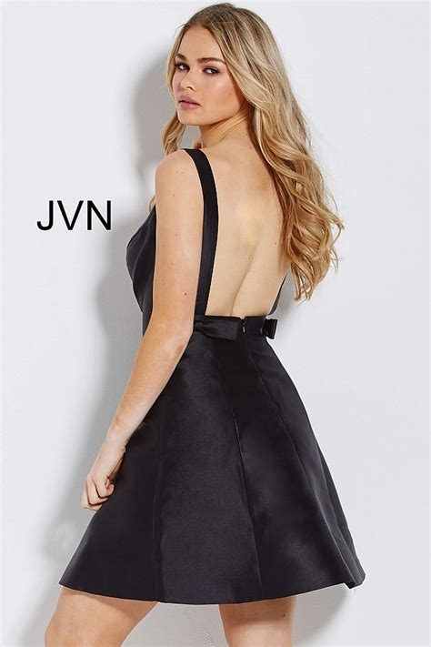 boat neck dress short black short fit and flare sleeveless cocktail dress with