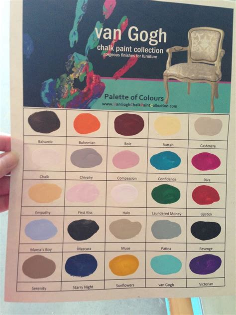 gogh color chart www cougarchiccollectables gogh chalk paint