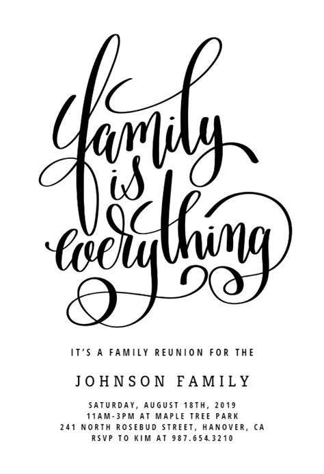 Our Family   Family Reunion Invitation Template (Free