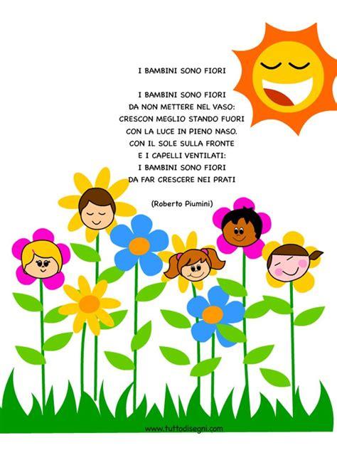 poesia i fiori poesia sui bambini i bambini sono fiori tuttodisegni