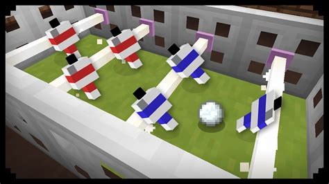 How To Make A Table Football by Minecraft How To Make A Football Table