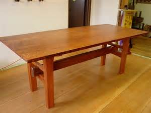 Redwood Kitchen Table Handmade Redwood Table With Japanese Joinery By Heritage Salvage Custommade