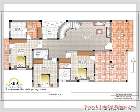 duplex house floor plans indian style indian style home plan and elevation design kerala home