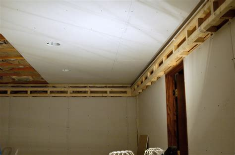 installing drywall ceiling in basement how to install ceiling drywall