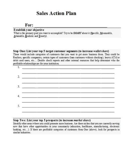 business plan to increase sales template 32 sales plan