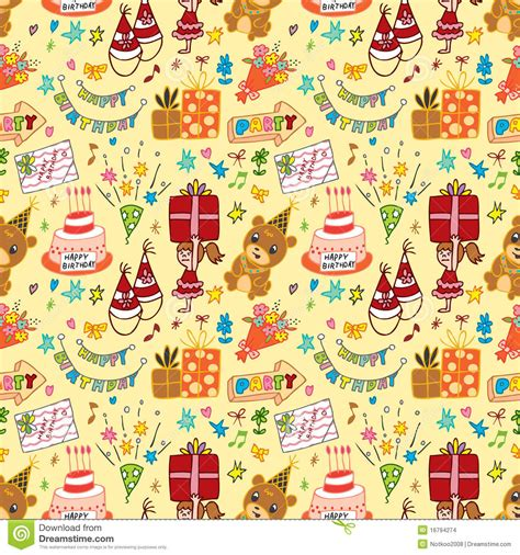 pattern birthday cute cute birthday seamless pattern stock images image 16794274