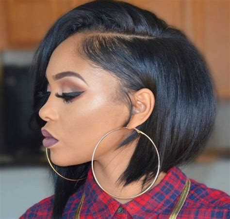 black hairstyles going to one side latest 10 short bob hairstyles 2017 for black women
