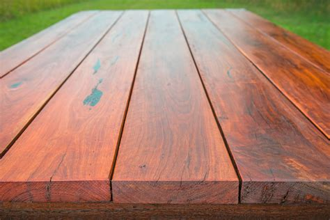custom outdoor tables solid timber