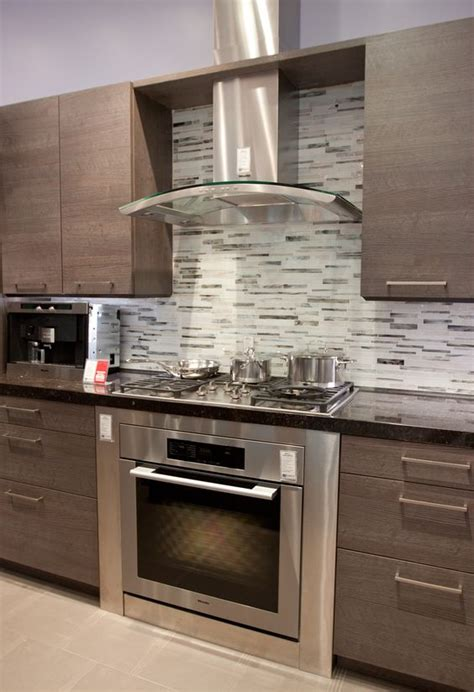 kitchen glass chimney gray backsplash kitchen ideas