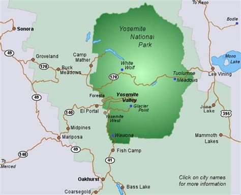 california map near yosemite yosemite national park cing survival national