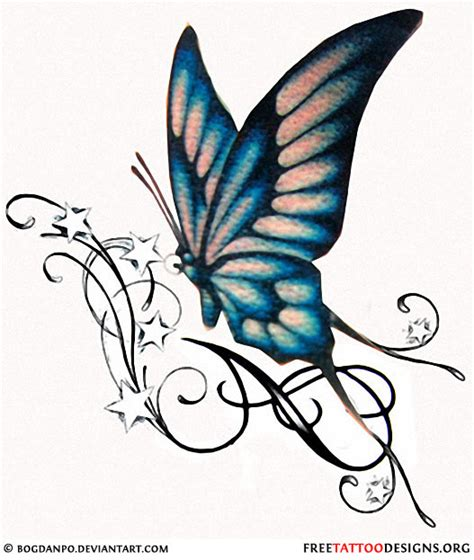 butterflies and stars tattoos designs 60 butterfly tattoos feminine and tribal butterfly