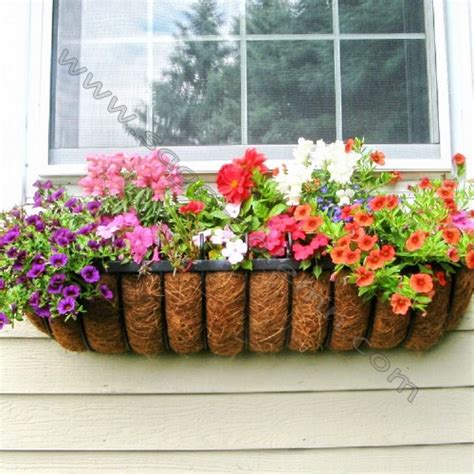wrought iron window boxes for sale decorative wrought iron window box with coco liner