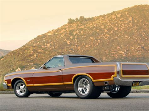 ranchero car ford ranchero squire 1975 brown muscle car