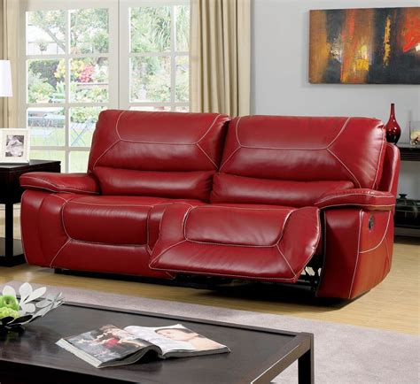 red bonded leather sofa newburg red bonded leather match motion sofa couch