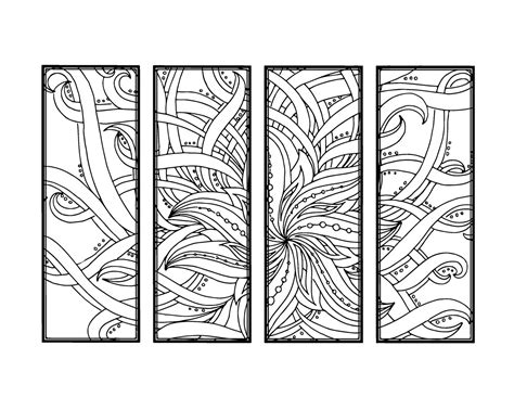printable bookmarks adults diy bookmarks printable coloring page adult coloring