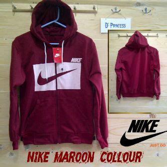 Jaket Parasut Nike Maroon Polos Fashion Ootd Bukan Parka Cewek B jaket baju rajut baju korea rajut murah grosir rajut rajut korea