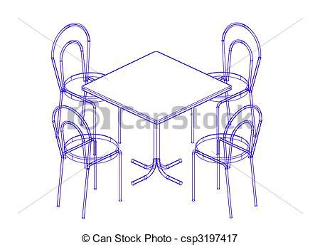 Antique Dining Room Chairs stock illustrations of dining table and chairs the