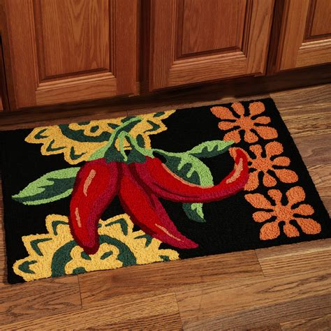 chili pepper home decor best kitchen rugs and mats selections homesfeed