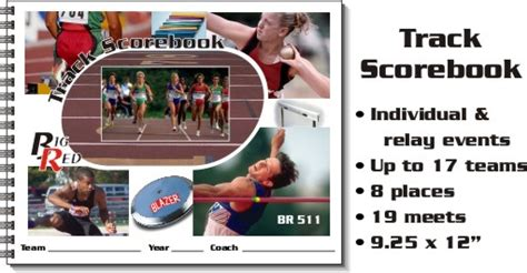 track meet relay card template big track scorebooks