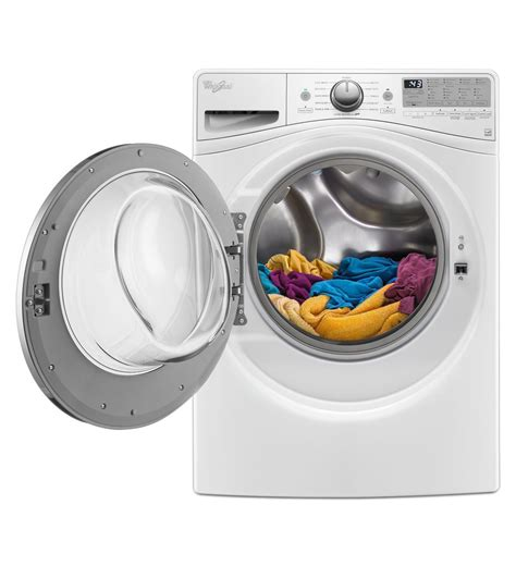 front load washer cleaner whirlpool 4 8 cu ft front load washer with detergent dispenser wfw9290fc