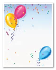 Birthday Stationery Templates Free by Balloons Stationery Letterhead Myexpression 8740