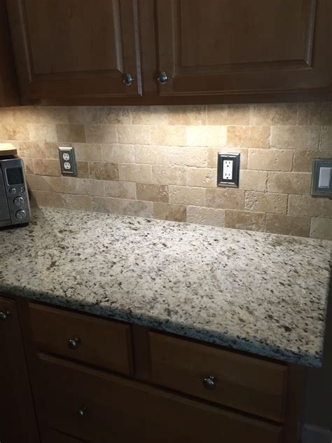 travertine tile kitchen backsplash tumbled travertine backsplash for the home