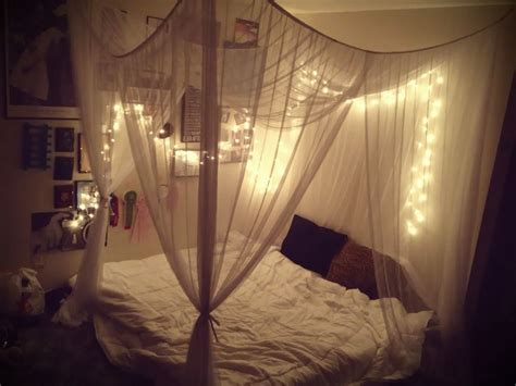 Bed Canopy With Lights Bedroom With Lighted Canopy Bedroom Canopy Twinkle Lights Touch Of