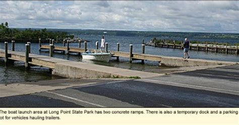 boat launch cayuga lake the boat launch area at long point state park in the