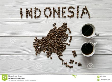 map   indonesia   roasted coffee beans laying