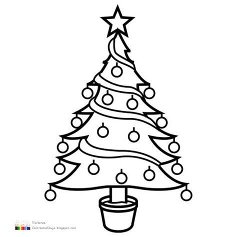 colorea tus dibujos 193 rbol navide 241 o para imprimir y colorear