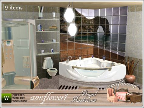 bathroom with shower and toilet design feature royale annflower1 s royal bathroom 001 af