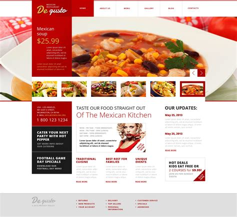 flat mexican restaurant wordpress theme 45540