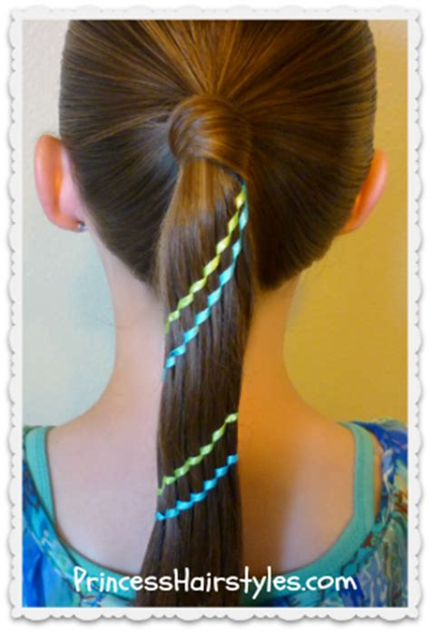 aztec hair style waterfall twist ribbon braid ponytail hairstyles