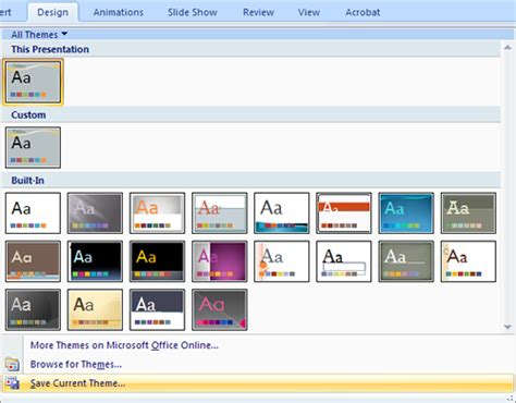2007 powerpoint themes microsoft office powerpoint