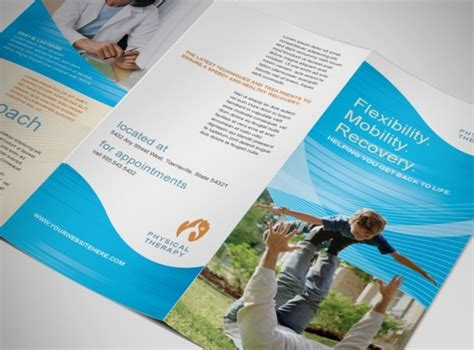 therapy brochure templates occupational physical therapy services brochure templates