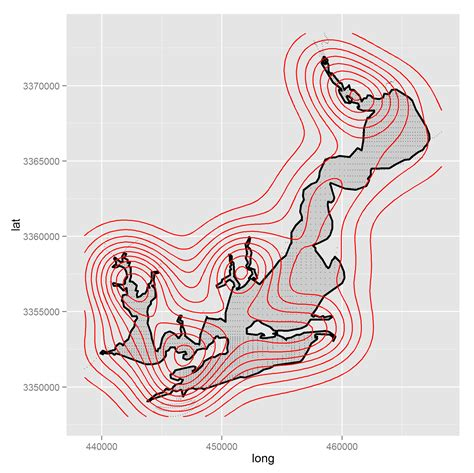ggplot theme nothing map clip the contour with polygon using ggplot and r