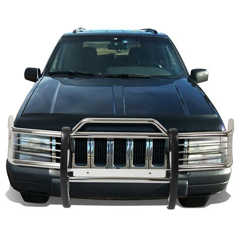 jeep grand cherokee front grill 93 98 jeep grand cherokee zj front bumper protector brush