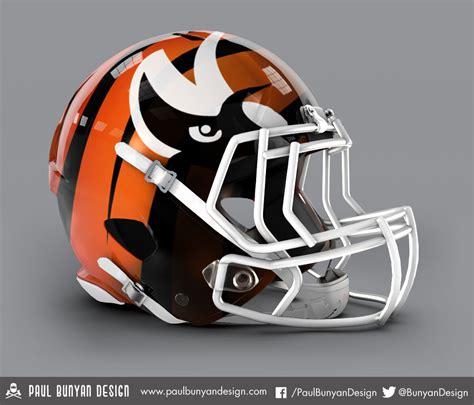 football helmet design nfl my take on nfl concept helmets paul bunyan cincinnati