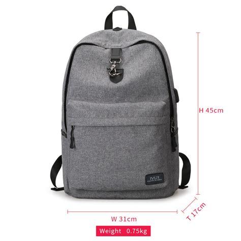 Tas Laptop ryden tas ransel laptop dengan usb charger port mr5968 gray jakartanotebook