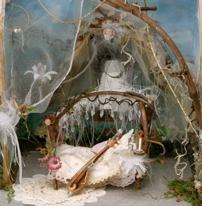 fairy bed miniatures dollhouse fairies needle and clay