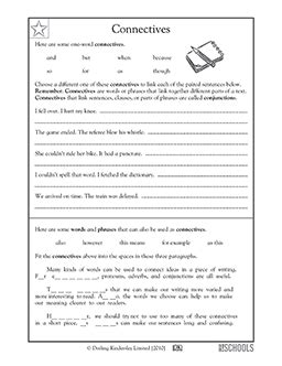 Classroom Practice Editing P5 3rd grade 4th grade writing worksheets connectives
