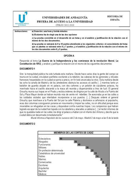 preguntas de español examen historia de espaa 2 bachillerato newhairstylesformen2014