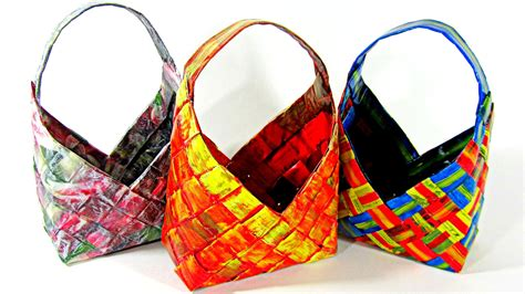 Paper Basket - diy cestas de papel peri 243 dico how to make paper baskets
