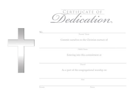 dedication certificate template dedication certificate certificate dedication