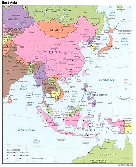 maps of asia east asia political map 1995 size
