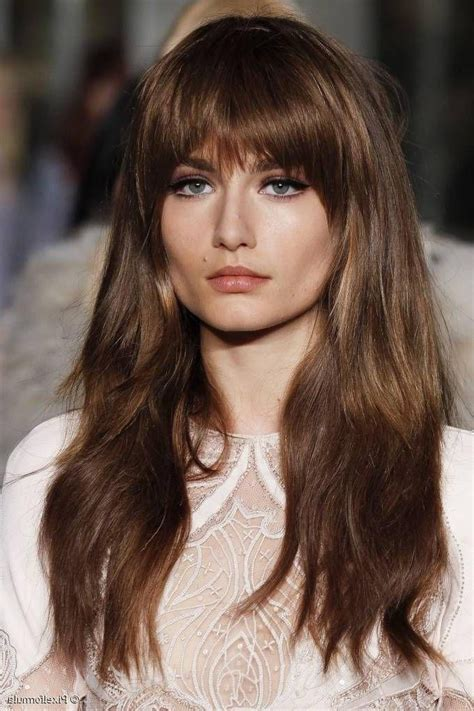 hairstyles with bangs tied up 20 best collection of full fringe long hairstyles