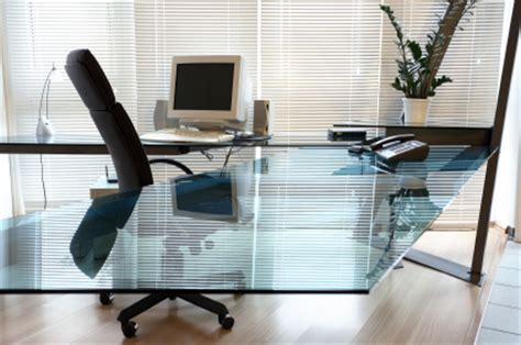 glass desk office furniture glass creates modern glass desktops glass