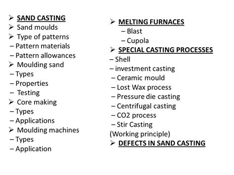 types of pattern allowances ppt manufacturing technology i me6302 ppt video online
