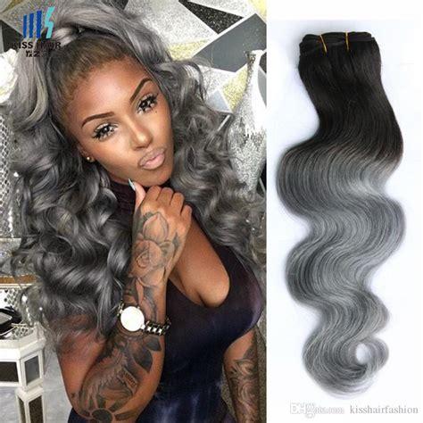 colored hair bundles 4 bundles t 1b grey ombre human hair bundles two tone